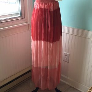 """M Dresses - """"M"""" made in Italy flowy silk maxi dress coral"""